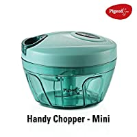 Chop All Types of Vegetables and Fruits with Ease: The Pigeon New Handy Chopper is an excellent affordable solution to all of your fruit and vegetable chopping needs. Featuring three sharp and durable stainless steel blades and a unique string design...
