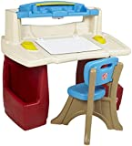 Step 2 702500 Deluxe Art Master Desk, Red, White and Blue