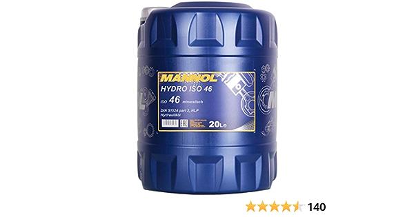 1 X 20l Mannol Hydro Iso 46 Hydraulic Oil Hlp Auto