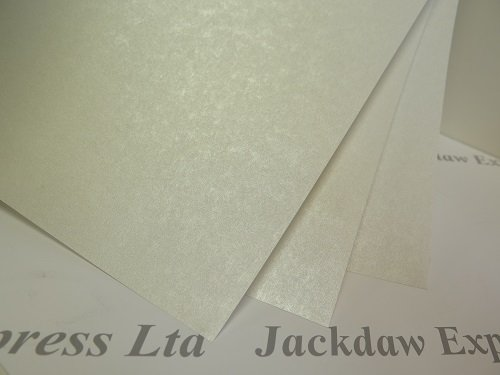 Vellum Parchment Translucent Pearlescent Shimmer Paper 235gsm 10 x A4 Pale Ivory AM810