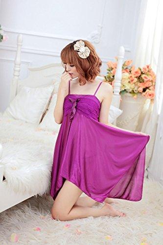 Shangrui Femmes Racy Pyjamas Rose Sling Underwear W135 Violet