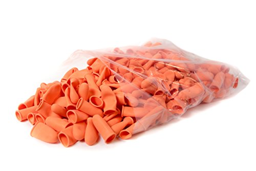 Bertech Heavy Duty Industrienorm Fingerlinge, Farbe Orange, 14 Mil Dick (300 Stück), S, Orange, 300