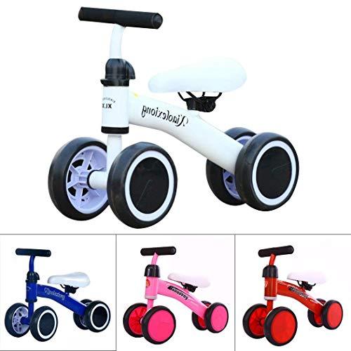 Qulista Kinder Laufrad ab 1 Jahr Spielzeug für Baby mit Vier Rädern Fahrrad Für Jungen Mädchen