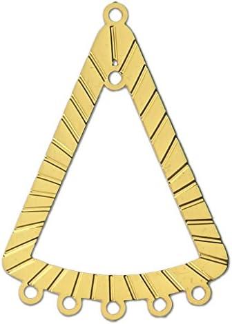 Intercalaire/Chandelier teinté laser cut triangle 36x25 mm doré x1   Outlet