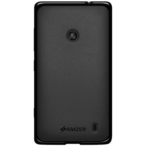 Amzer 96744 Pudding TPU Case for Nokia Lumia 520/521/525 (Black)  available at amazon for Rs.314