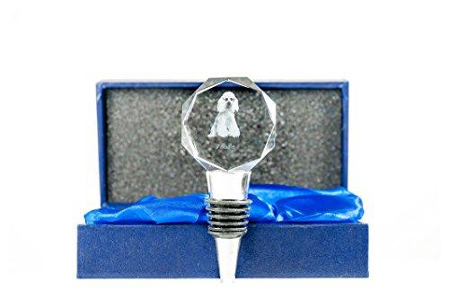 ArtDog Ltd. Pudel, Kristall Flaschenverschluss mit Hund, Wein und Hundeliebhaber, Qualität, Außergewöhnliches Geschenk (Pudel Wein)