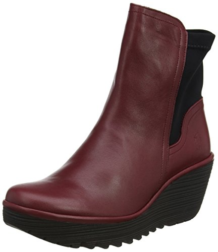 FLY London Damen Yuan752fly Stiefel, Rot (Cordoba Red Black), 37 EU (Stiefel Zip Side Black)