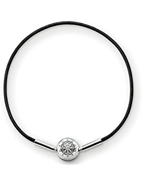 Thomas Sabo Damen-Armband Karma Beads 925 Sterling Silber Schwarz Länge 20 cm KA0003-653-11-L21