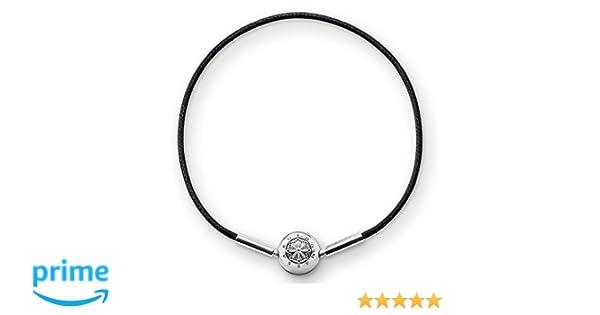 Thomas Sabo Women-Bracelet Karma Beads 925 Sterling Silver black Length 18 cm KA0003-653-11-L19