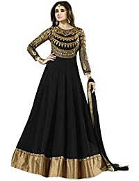 INFOTECH FAB Suits For Women Indo-Western Red Party Wedding Wear Floor Length Gown/ Anarkali Suit/ Salwar Suit