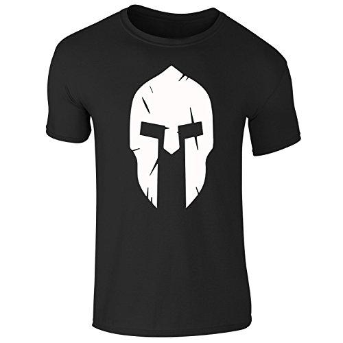 New Men's Spartan Helmet 300 Z Body Building Training Gym Wear Sports T Shirt Top Tee (Large) Black (Warrior Training T-shirt)