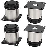 Bqlzr piedini tondi regolabili in acciaio inox per mobili da cucina 5 cm confezione da 4 - Piedini cucina 15 cm ...
