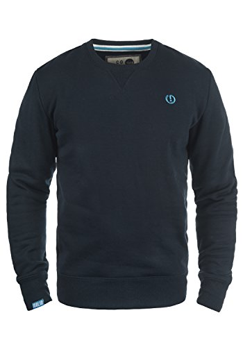 !Solid Benn O-Neck Herren Sweatshirt Pullover Pulli Mit Rundhalsausschnitt, Größe:S, Farbe:Insignia Blue (1991) Zip Neck Fleece Pullover