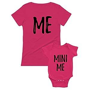 Ropa Mama y Bebe Iguales - Me and Mini Me - Set Camiseta Madre y Body Manga Corta Bebé 3