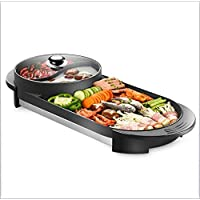 VISTANIA BBQ - The Electric Korean BBQ Grill And Hot Pot Tabletop Grill And Fondue With Ceramic Coating