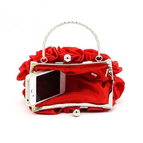 Modische Süße Damen Handgehaltene Rose Casual Party Party Tasche Red