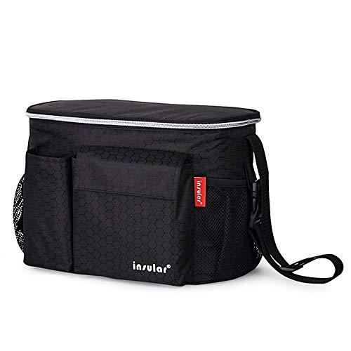 CYDAF Multifunktions Mummy Bag Liner Wasserdichte Isolierung Mummy Bag Baby Cart Use Bag Tasche wechseln (Farbe : Schwarz, größe : 31 * 20 * 16) -