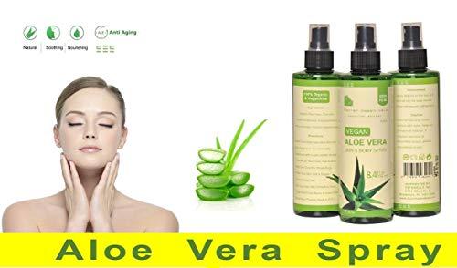 Aloe Vera Gel Spray - 100% Organische & Vegan Soothing Gel für Haut, Haare und Körper, 250 ml  ...