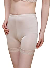 Baymate Mujer Basic Long Braguitas Pantalón corto Leggings Encaje Recorte Vaciada Anti