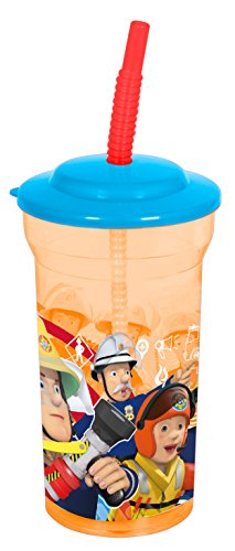 Elvis Kostüm Jungen (Feuerwehrmann Sam transparenter Trinkbecher mit Strohhalm)