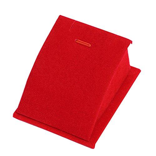 Minzhi Klassische Velvet Halsketten-Ketten-Ausstellungsstand Frauen Schmuck Organizer-Halter-Speicher-Armband anzeigen Brett rot (Anzeige Brett)
