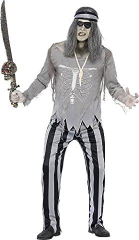 Geister Pirat Kostüm, Größe:L (Graue Geist Kostüm)