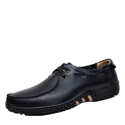 Sk studio mocassini da uomo pelle loafers eleganti scarpe da barca casuale slip on nero scarpe di guida nero