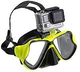 Navitech Masque Vert de plongée Sous-Marine de plongée Avec le bâti Compatible Avec le BOROFONE Action Camera Waterproof 4K WI-Fi 1080P 12MP