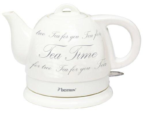 Bestron DTP800 Keramik Wasserkocher 0,8L Teekanne 1785 Watt max. Keramik-wasserkocher