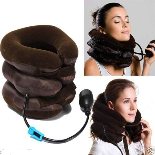 Fariox Tractors Neck Pillow Pneumatic Air Bag 3 Tier Inflatable For Cervical Spine Neck Rest Support Massagers Pillow