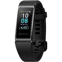 """Huawei Band 3 Pro Resistenza all'acqua 5 ATM e GPS Integrato, Analisi del Sonno con AI e Monitoraggio Continuo del Battito, Display AMOLED a colori da 0.95"""", Obsidian Black"""