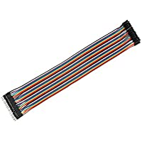 80Stk 10cm 2,54 mm 1 P-1 P Stecker Jumper Kabel Flachbandkabel Flachkabel