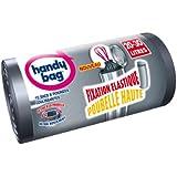 Handy Bag - 3557880353681 - Sacs Poubelle à Poignées Coulissantes - Fixation Elastique - 20 / 30 L - 47 x 78 cm - x 15 sacs - Lot de 2
