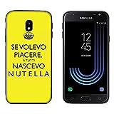 Hülle Galaxy J3 2017 Case Samsung Galaxy J3 2017 Lustige Sätze wenn ich allen gefallen wollte, wurde ich als Nutella geboren / Cover Druck auch an den Seiten / Anti-Rutsch Anti-Rutsch Anti-Scratch Schock-resistenten Schutz Schutzulle Starre