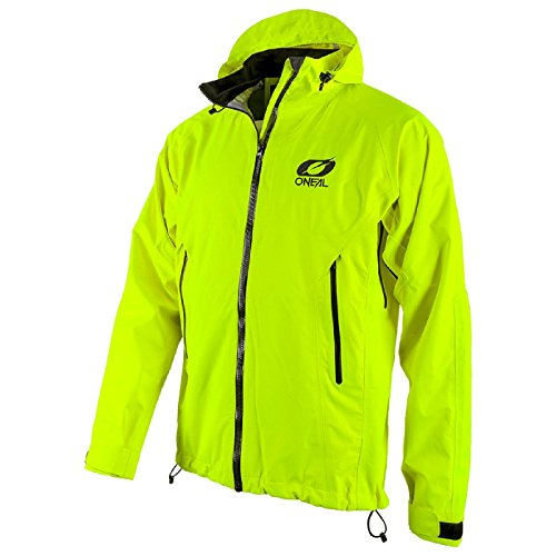 O'Neal Tsunami Regen Jacke MX DH Moto Cross Downhill Enduro MTB Mountain Bike, 1107, Farbe Hi-Viz Gelb, Größe S (Off-road-mountain-bike)