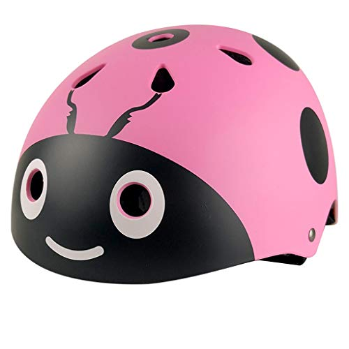 GDSAD Roller Helm Kinder Männer und Frauen Fahrrad Reiten Sicherheit Hut Einstellbare Skates Rollschuhe Balance Helm Helm / (Color : Pink, Size : M)
