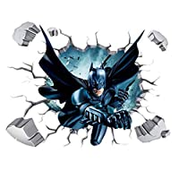 3D Batman Broken Wall Stickers