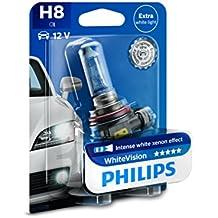 Philips WhiteVision 12360WHVB1 - Bombilla Para Faros Delanteros (Efecto Xenon H8), 1 Unidad