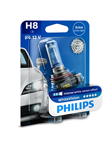 Preisvergleich Produktbild Philips WhiteVision Xenon-Effekt H8 Scheinwerferlampe 12360WHVB1, Einzelblister