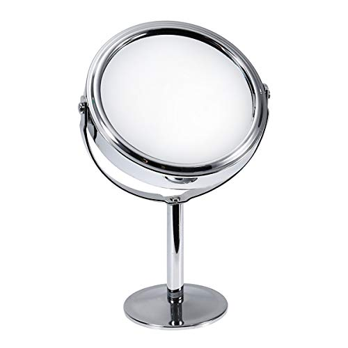 Scopri offerta per Frcolor Specchio doppio per trucco ruotabile Makeup mirror on stand