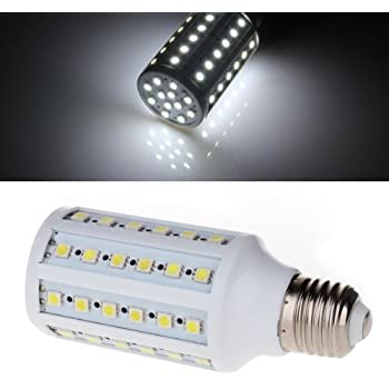 Sonline E27 12W 60 LED 5050 SMD Lampara Bombilla 6500K Luz Blanco Bajo Consumo
