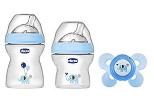 Chicco 00080711620000 NaturalFeeling Set Regalo Biberon per Bambino, Azzurro