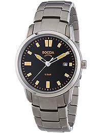 Boccia  0 - Reloj de cuarzo para hombre, con correa de titanio, color plateado