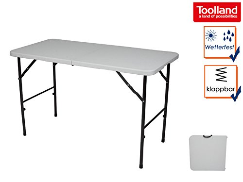 Unbekannt Klapptisch weiß 120x60 cm für innen und außen, Tisch für Camping & Garten, Perel