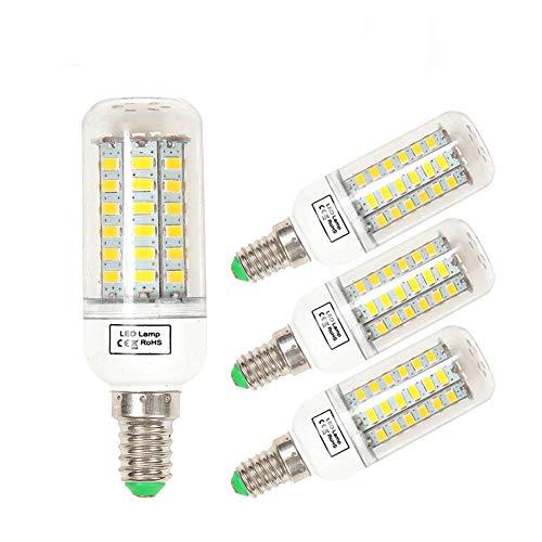 Sominue E14 9W LED Lampe Glühlampe Mais Birne Beleuchutung,Mais Glühbirnen,1200 Lumen,SMD5730, 3000K, 220V, Warmweiß (4er Pack)