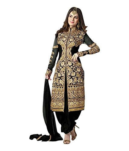 Lady Zone Women's Georgette Semi Stitched Salwar Suit,SHB3005_Blue_Freesize