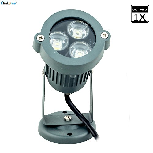ELINKUME 1Stücke 3W Kaltweiß IP65 Wasserdicht im Freien Spots LED Licht Lampe Leuchtband Bodenleuchte schwenkbar AC230V