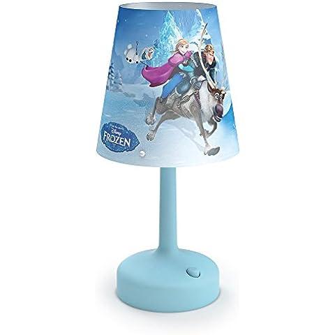 Philips Disney Frozen - Lámpara de mesa portátil, luz blanca cálida, bombilla de 0,6 W, color
