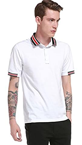 Whatlees Herren Urban Basic schmale Passform Polohemd Shirts mit Bunt