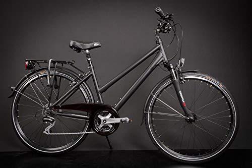 men Trekking Fahrrad Shimano 24 Gang Nabendynamo Continental schwarz Rh 45cm ()